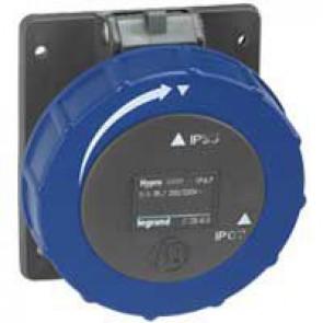 Panel mounting socket fixing centre Hypra -IP66/67-55 - 200/250 V~ - 16 A - 2P+E