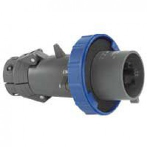 Straight plug Hypra - IP66/67-55 - 200/250 V~ - 16 A - 2P+E - plastic