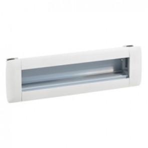 Empty flush-mounting office modules - aluminium body - 8 modules - white
