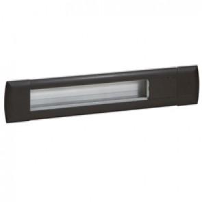 Empty flush-mounting office modules - aluminium body - 12 modules - black