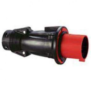 Straight plug Hypra - IP44 - 380/415 V~ - 63 A - 3P+N+E - rubber