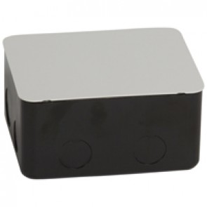Metal flush-mounting box for installation in concrete floor - 4 modules
