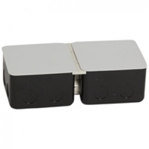 Metal flush-mounting box for installation in concrete floor - 2 x 3 modules