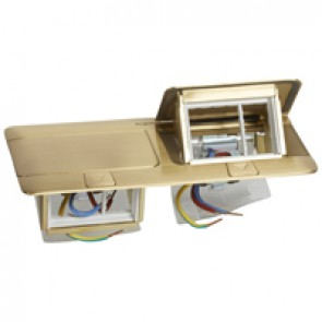 Pop-up box to be equipped - 2 x 3 modules - brushed brass