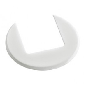 Finishing plate for desk grommet - white