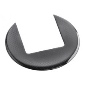 Finishing plate for desk grommet - black