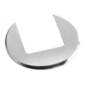 Finishing plate for desk grommet - stainless steel