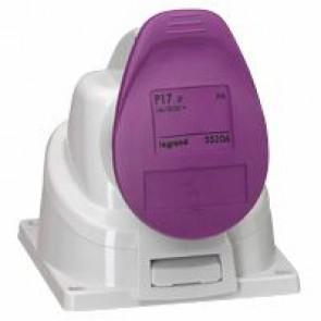 Surface mounting socket P17 - IP44 - 20/25 V~ - 16 A - 2P