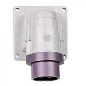Appliance inlet P17 - IP44 - 20/25 V~ - 16 A - 2P