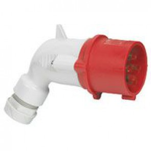 P 17 Tempra Pro IP 44 3P+E angled plug LV 16 A with male connector - 380 to 415 V~ - 50/60 Hz