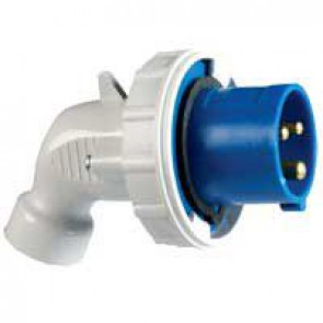 P 17 Tempra Pro IP 66/67 2P+E angled plug LV 16 A with male connector - 200 to 250 V~ - 50/60 Hz