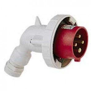 P 17 Tempra Pro IP 66/67 3P+N+E angled plug LV 32 A with male connector - 380 to 415 V~ - 50/60 Hz
