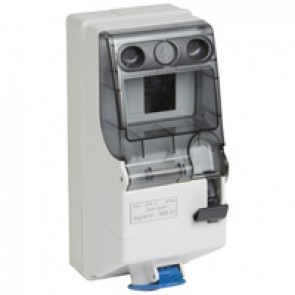 Combined unit P17 - with DIN rail 125x280 - IP44 - 200/250 V~ - 16 A - 2P+E