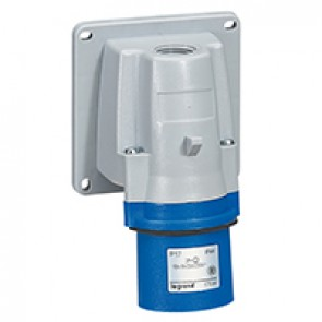 Appliance inlet P17 - IP44 - 200/250 V~ - 16 A - 2P+E