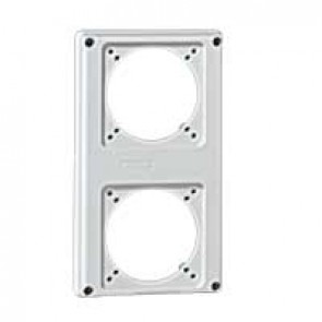 Faceplate for combined unit P17 - 2 sockets 16 A