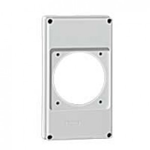 Faceplate for combined unit P17 - 1 socket 63 A