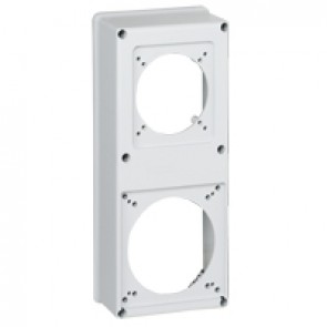 Faceplate for combined unit P17 - 1 socket 16 or 32 A and 1 socket 63 A