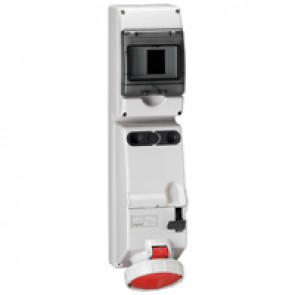 Combined unit P17 - with DIN rail - IP66 - 380/415 V~ - 63 A - 3P+E