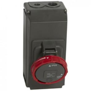 Surface mounting socket Hypra- IP66/67-55 - 380/415 V~ - 63 A - 3P+N+E -plastic