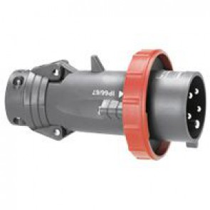 Straight plug Hypra - IP66/67-55 - 380/415 V~ - 63 A - 3P+E