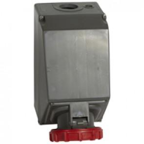 Surface mounting socket Hypra - IP66/67-55 - 380/415 V~ - 125 A - 3P+E - plastic