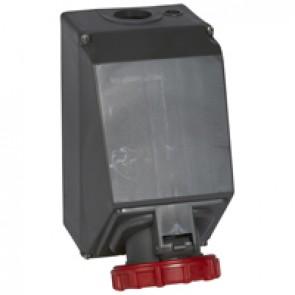 Surface mounting socket Hypra- IP66/67-55 - 380/415 V~ - 125 A - 3P+N+E -plastic