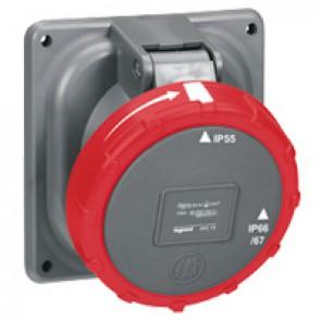 Panel mounting socket Hypra - IP66/67-55 - 380/415 V~ - 125 A - 3P+N+E - plastic