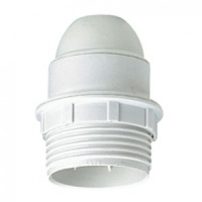 E 27 lampholder - 4 A 250 V~ - insulating - 100 W- screw connection