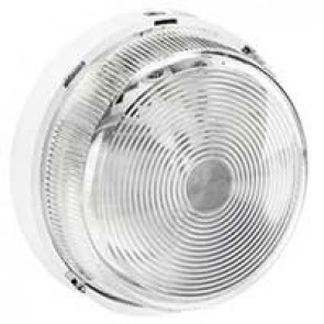 Bulkhead light - IP44 - IK07 - round - B 22 - glass diffuser