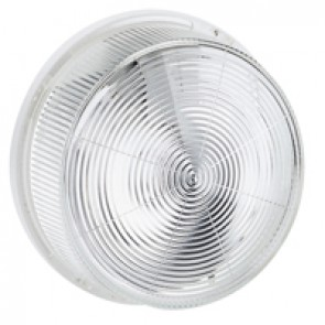 Bulkhead light - IP44 - IK07 - round - E 27 - glass diffuser