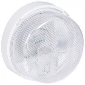 Bulkhead light - IP44 - IK07 - round - E27 - polycarbonate diffuser