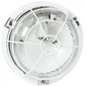 Bulkhead light - IP55 - IK04 - round - 100 W- E27 - though environments