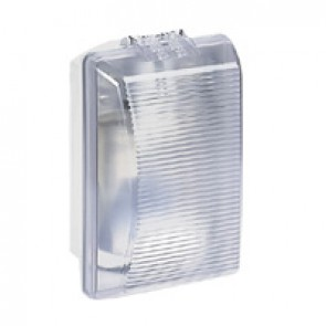 Bulkhead light Plexo - IP54 - IK08 - rectangular - 75 Wincandescent - clear