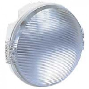 Bulkhead light Koro - IP54 - IK08 - round - 100 Wincandescent - E27 - white