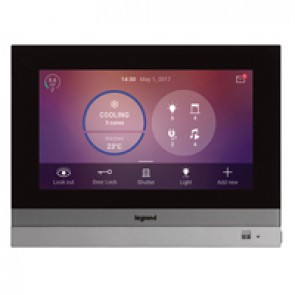 Home Touch 7 inches handsfree video internal unit for MyHOME_Up home system management - supplied complete