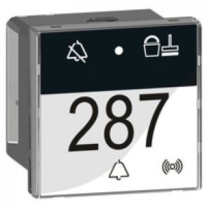 Control indicator Arteor for room management - with bell push-button