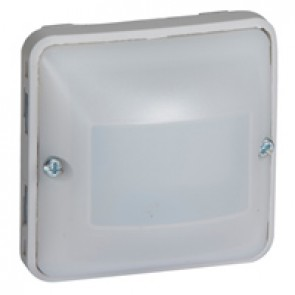 Automatic switch Plexo with neutral - 3-wire - IP55 IK07 - 230 V~ - 50 Hz - grey/white
