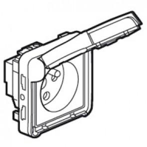 Socket outlet Plexo IP55-Fr standard-2P+E tamperproof screw terminals-modular-grey
