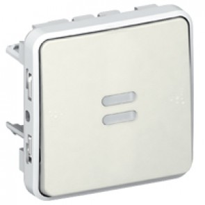 Switch Plexo IP55 - illuminated 2-way - 10 AX 250 V~ - modular - white
