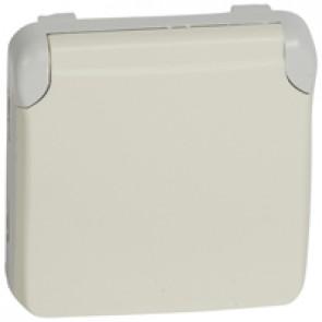 Socket outlet Plexo IP55 - German standard - 2P+E automatic terminals-modular-white