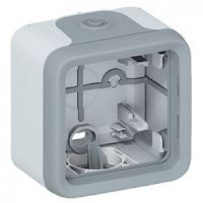 Surface mounting box Plexo IP55 - 1 gang - with membrane glands - grey