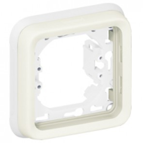 Flush mounting support frame Plexo IP55 - 1 gang - white