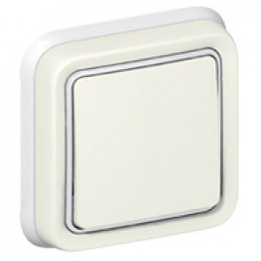 Switch Plexo IP55 - 2-way - 10 AX 250 V~ - flush mounting - white