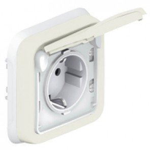 Socket outlet Plexo IP55 - German standard - 2P+E - flush mounting - white