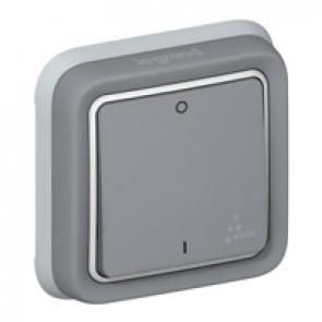 Double pole switch Plexo IP55 - 10 AX 250 V~ - modular - grey