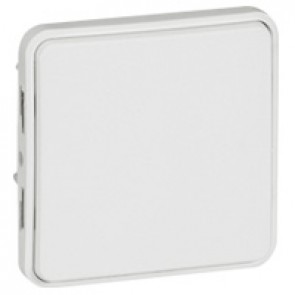 Push-button Plexo IP55 antibacterial-N/O contact-10 A - modular - Artic white