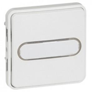 Push-button Plexo IP55 antibacterial-illum/label-holder-10 A-modular-Artic white