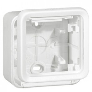 Box with glands Plexo IP55 antibacterial-1 gang-modular-Artic white