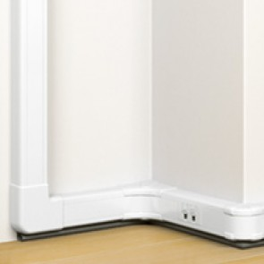 Flexible cover snap-on DLP trunking - 1 compartment - 50x80 - with cover 45 mm - 2 m - antimicrobial