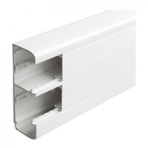 Flexible cover snap-on DLP trunking - 2 compartments - 50 x 145 - with cover 45 mm - 2 m - white